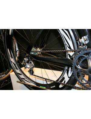 Shaped and contoured chain stays are fitted to the back end of Pearson's Headrush.