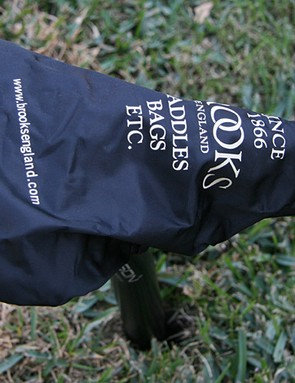 The included raincoat helps protect the saddle if you have to park it in the rain.