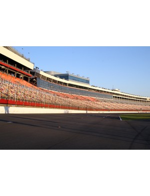 Lowe's Motor Speedway in North Carolina. Normally used for NASCAR racing, but you can race bikes on it too