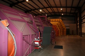Outside the main tunnel, which is powered by four fans