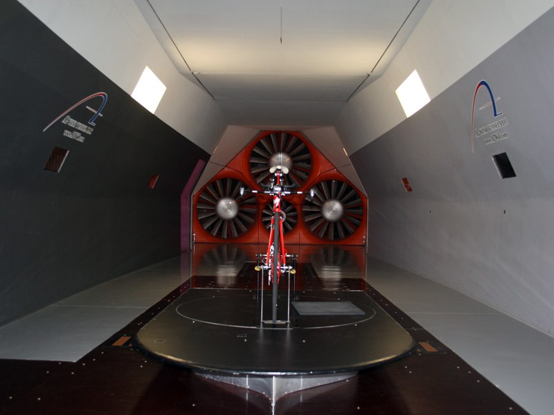 A Specialized Transition looking very aero in the A2 wind tunnel in North Carolina, USA