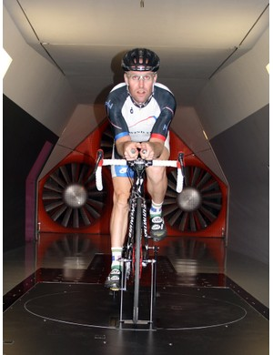 Testing one of the positions in the tunnel
