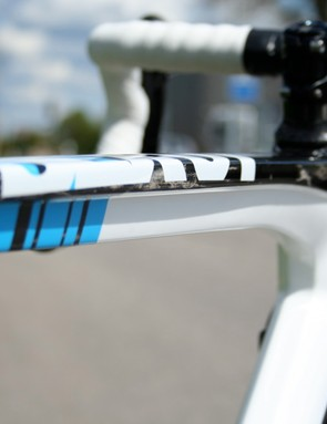The T-section top tube is unmistakably BMC.