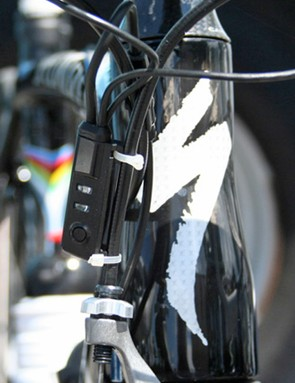 A new control box allows on-the-fly derailleur adjustment on this latest version of Shimano's electronic Dura-Ace group.