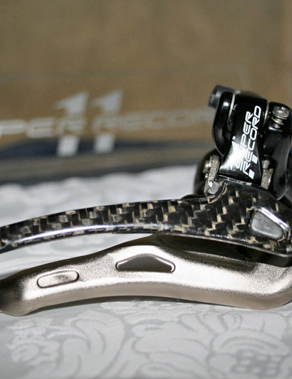 The front derailleur cage has been redesigned to allow more chain crossing - something that the pros do more than they perhaps should.