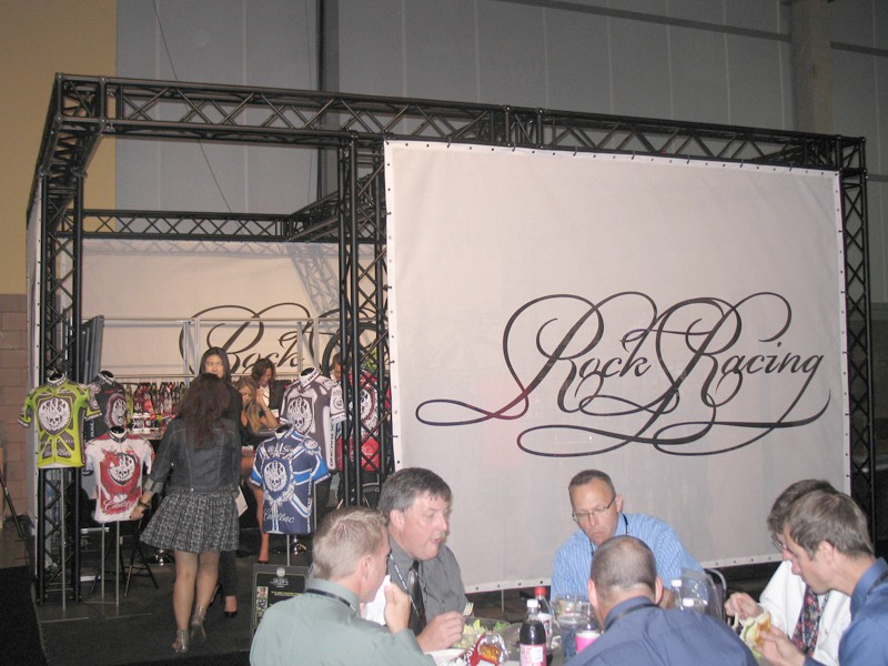 Rock Racing had good reason to be discreet about its Interbike booth, as you can see from this spy shot