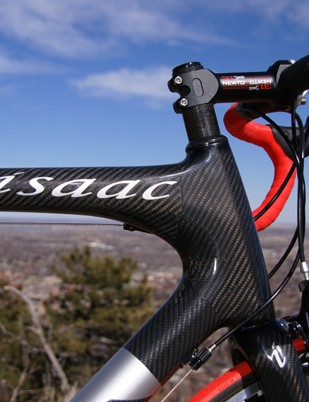 The massive head tube area yields expected dividends in front triangle rigidity for sharp handling
