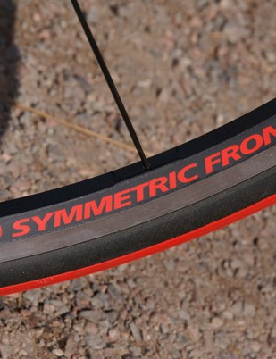 The front rim on the Campagnolo Neutron Ultra wheel uses a symmetric spoke drilling…