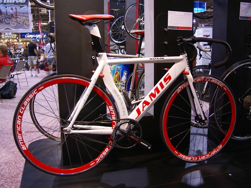 The Jamis Sonik track bike is stiffer and quicker for 2009.