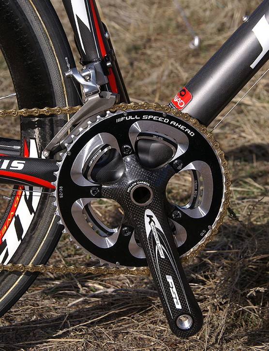 Jamis trades in the SRAM Red crankset, however, for the significantly lighter FSA K-Force Light.
