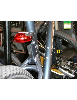A rear light clips straight into the frame