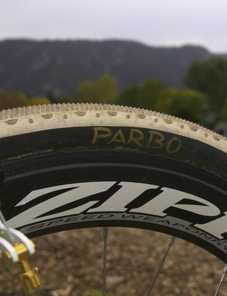 Apparently these particular tires were set aside just for Parbo