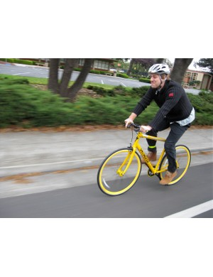 Cruising through Mountain View, CA on the Specialized Langster NY.