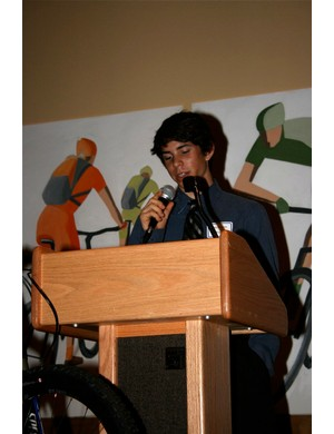 High school racer John Bennett talks about his recent world's race in Italy.