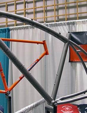 Titanium builder Kish Fabrication showed this curved tube titanium model