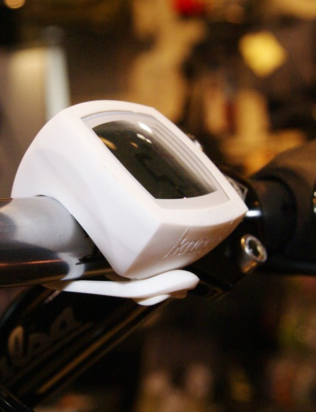 The silicone rubber housing easily attaches to handlebars or stems and also supposedly renders the unit waterproof