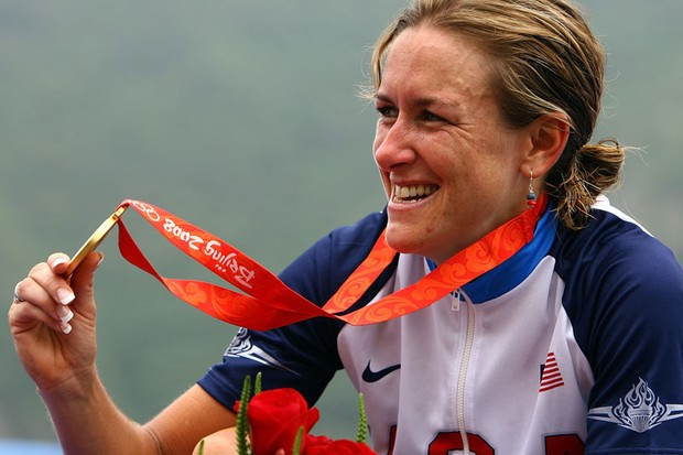 Kristin Armstrong took gold in Beijing and is favourite to win in Varese tomorrow.