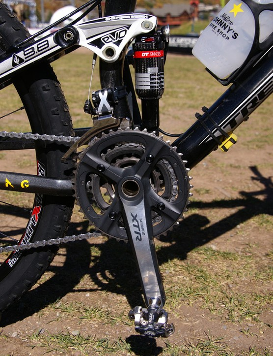 A Shimano XTR crankset is fitted as well.