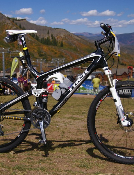 Lance Armstrong got back to his winning ways	at the 12 Hours of Snowmass aboard this Trek Top Fuel.