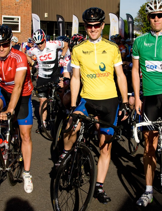 Last year's London to Paris jersey holders