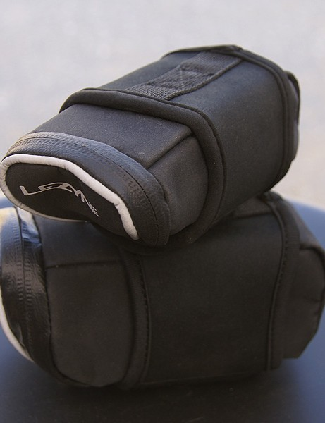 The new Lezyne Micro Caddy line of saddle bags uses a unique neoprene-and-Velcro style of attachment