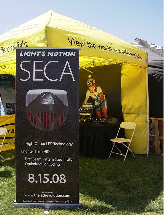 Light&Motion has a new LED light in the works called the Seca but it's still in prototype phase.