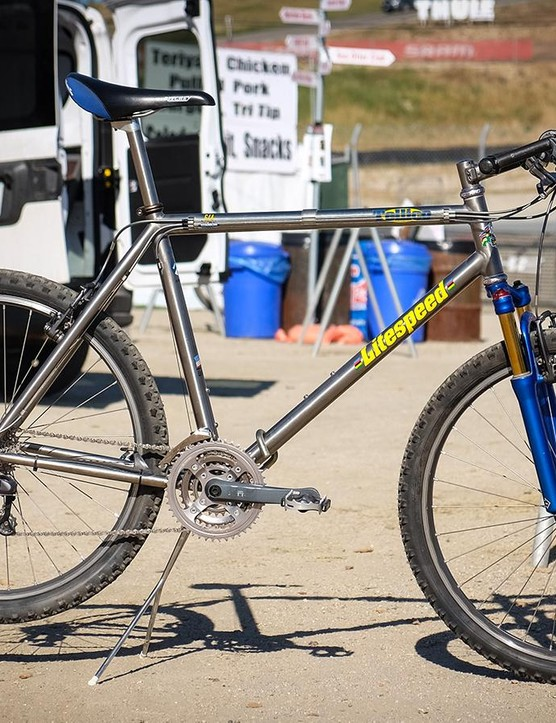 Litespeed had this vintage Tellico on display at its booth