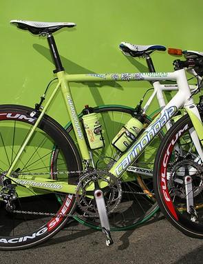 Filippo Pozzato also decided to go with something a little more familiar - his Milan-Sanremo bike