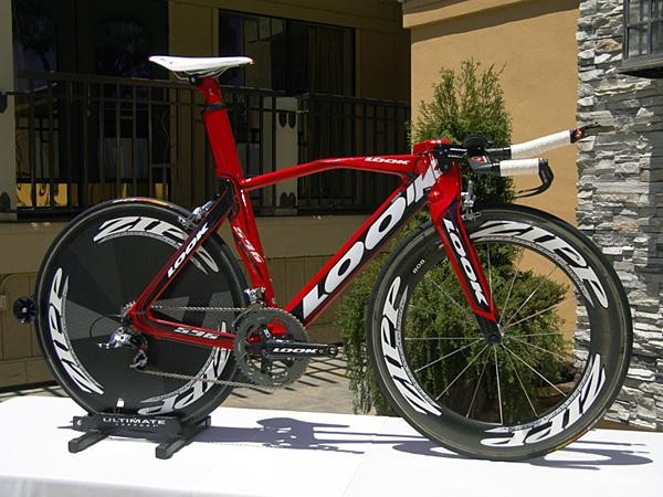Look-sponsored riders used a new track-specific version of its intriguing 596 aero frame at this year's Olympics.
