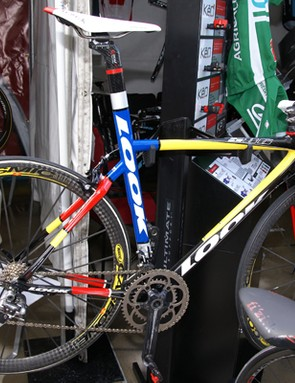 Look showed off this throwback paint job in its expo booth at the finish in San Jose.