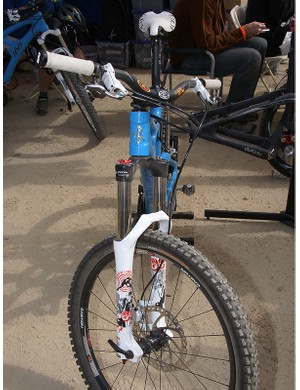 Lopes' bikes are typically easy to spot with their Marzocchi forks.