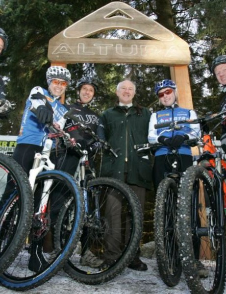 Lord Clark launching the Altura Trail at Whinlatter Forest