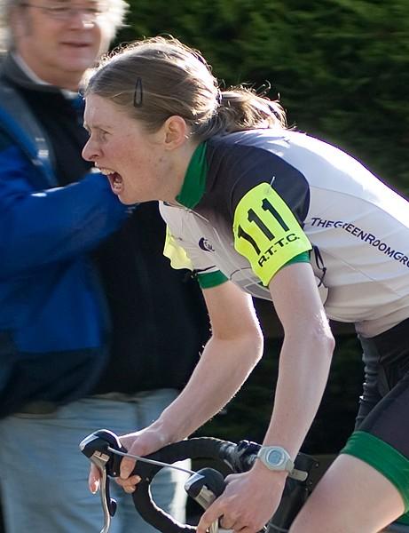 Lynn Hamel goes through the pain barrier