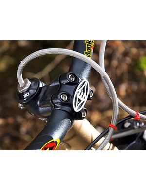 longer-than-average brake hoses and a long continuous gear cable to allow tricks