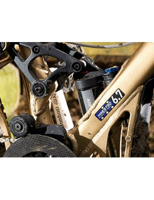 The shock is generally set fairly stiff to allow for plenty of feedback through the frame
