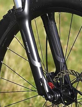 The SR Suntour XCR 100mm fork offers a surprisingly smooth action