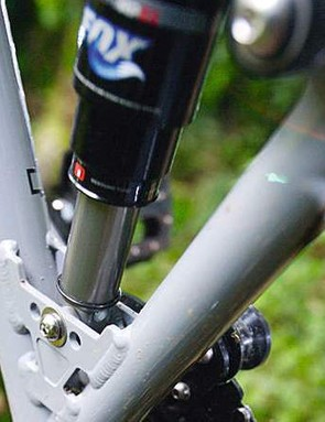 On a bike like this, the BB-centric pivot is an acceptable compromise