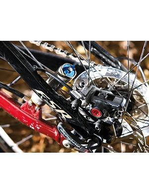 Avid Ultimate 7 brakes tame the Safire