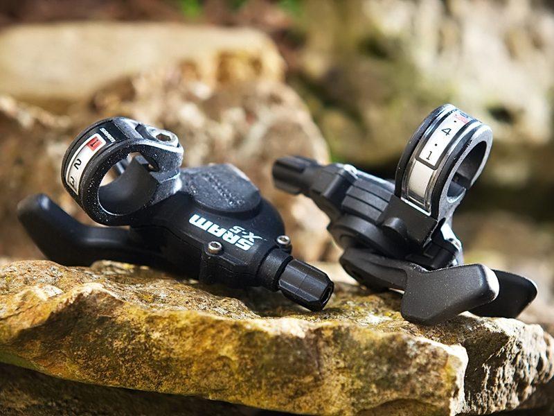 Derailleurs & Shifters SRAM X5 9-Speed Trigger Mountain Bike Shifter Set Black X.5 SHIFTERS