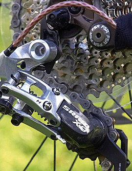 SRAM X-( rear derailleur. Almost compulsory in this price band.