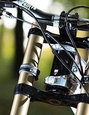 Fox's Fox 40 RC2 203mm travel fork boasts titanium spring