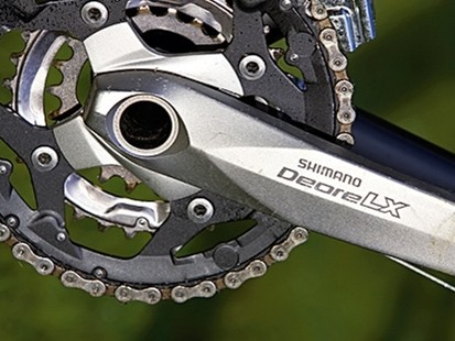 Shimanmo Deore LX chainset is a welcome step up from plain Deore