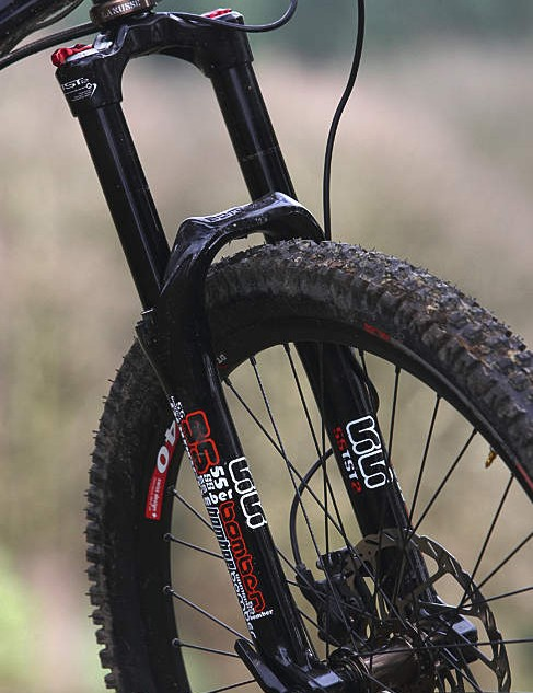 Marzocchi fork does the job on the trail
