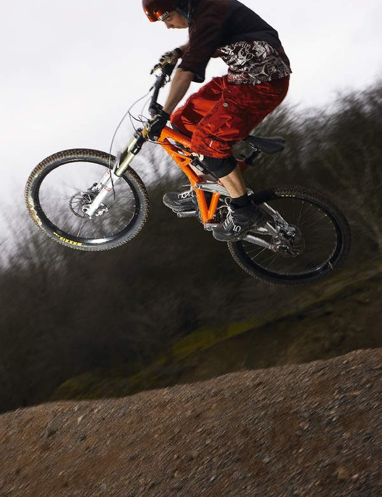 Born to fly, the Chumba Evo is a perfect machine for airborne freeride antics