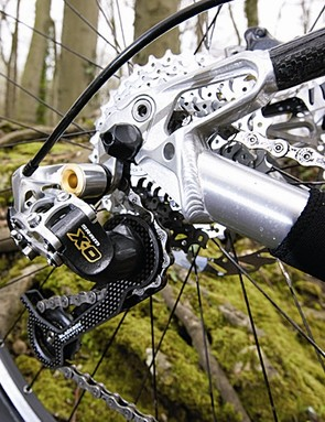 The Trailfox's excellent spec includes SRAM X.0 gears
