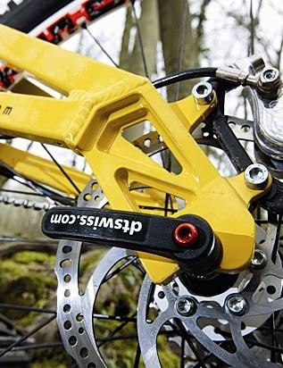 DT Swiss RWS skewers help keep the back end flex free