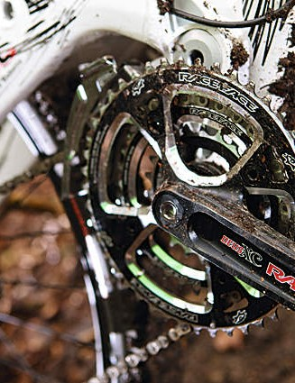 The lightweight chainset offers a very welcome full complement of chainrings