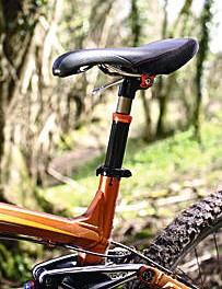 Keep your saddle low when tackling steep terrain.