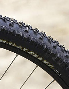 Long frame and 'proper' MTB tyres means the Kona can 'Shred' anywhere you want