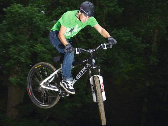 Kona Shred is less of a pure jump bike, but still takes to teh air happily when you get it dialled